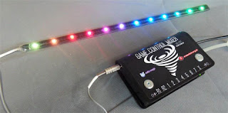 Expanded LED strip on Game Controller Mixer.
