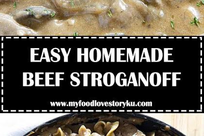 EASY HOMEMADE BEEF STROGANOFF