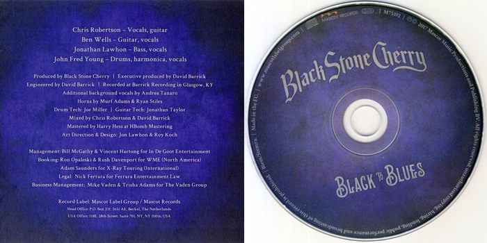 BLACK STONE CHERRY - Black To Blues (2017) disc