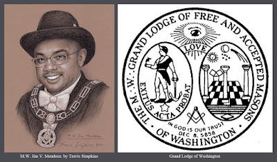 M.W. Jim V. Mendoza. Past Grand Master. Grand Lodge of Washington. by Travis Simpkins