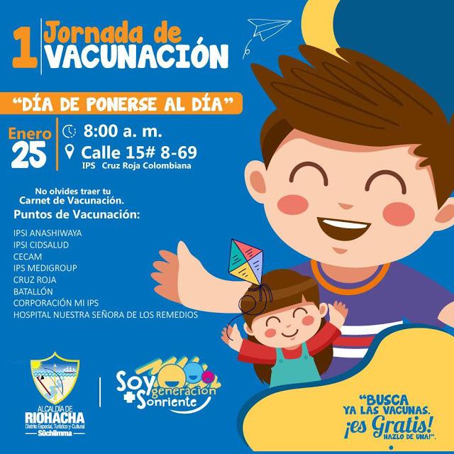 En Riohacha se aplicaron 864 vacunas en 15 puestos