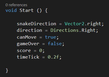 [TUTORIAL] Snake com Unity + C# Untitled-9
