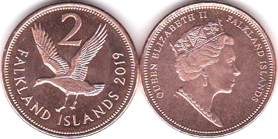 Falkland Islands 2 pence 2019 - New type