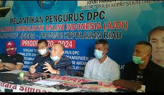 Anggota DPRD Propinsi Kepri Kunjungi Sekretariat DPC AJOI Kabupaten Lingga