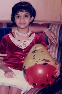 keerthy suresh childhood image