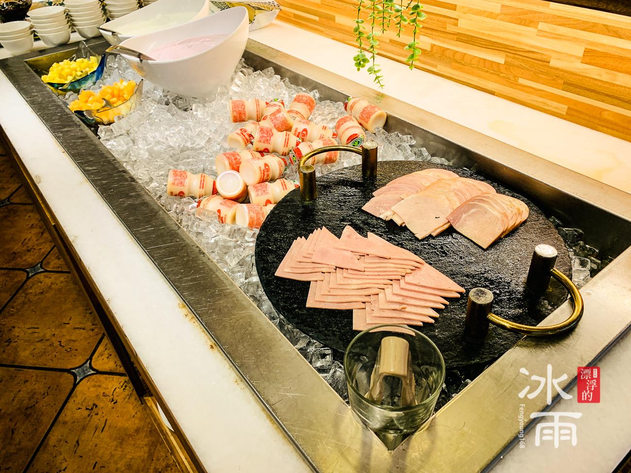 陽明山天籟溫泉會館|早餐菜色|火腿