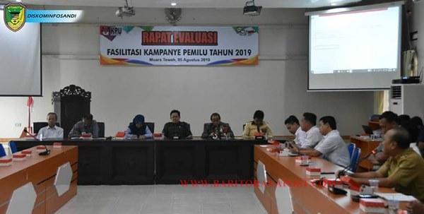 Rapat Evaluasi Fasilitasi Kampanye Pemilu Tahun 2019