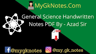 General Science Handwritten Notes PDF By - Azad Sir