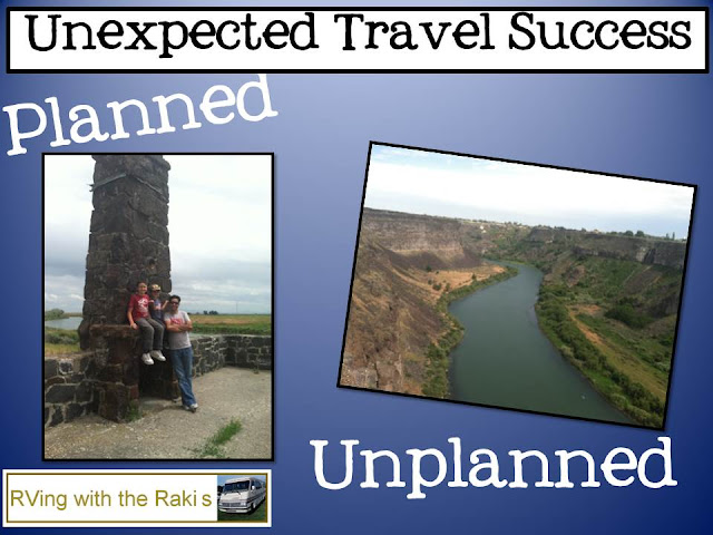 Travel Advice from RVing with the Rakis - Let go of your travel expectations and just enjoy the drive. Unplanned adventures are often more fun than all your planned high expectation adventures.