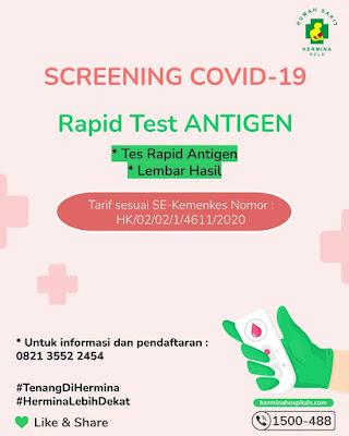 tarif rapid test antigen rs hermina solo