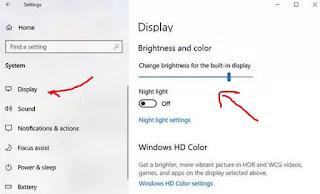 menu display pada pengaturan windows 10
