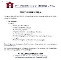 Loker Surabaya di PT. Incomindo Murni Jaya Februari 2021