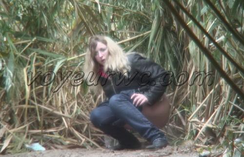 PissHunters 8401-8416 (Outdoor voyeur peeing. Voyeur public toilet spy cam)