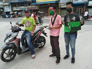 HMI Komisariat STAI Pancabudi berbagi Masker ke Masyarakat