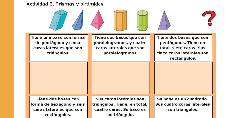 Las TIC en Primaria: LOS CUERPOS GEOMÉTRICOS (III)
