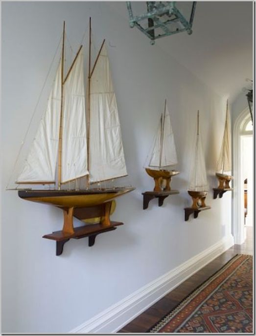 Using Decorative Sailboats As Maritime Wall Decor