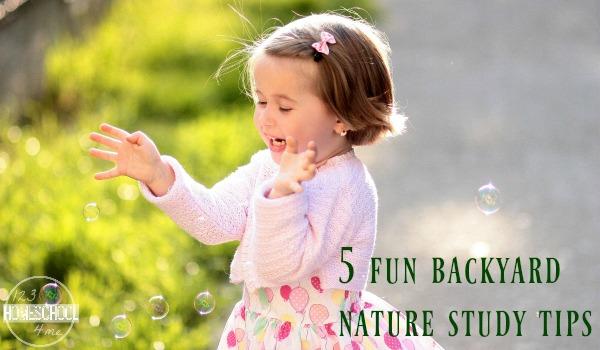 backyard nature study tips