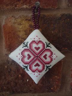 Just Nan Christmas Rose Cross Stitch Ornament