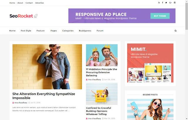 Seo Rocket Blogger Template Free