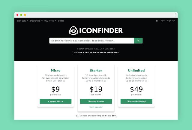 أفضل المواقع لتحميل أيقونات المجانية و المدفوعة iconfinder https://www.iconfinder.com/