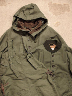 "FWK by Engineered Garments ""In Olive Cotton Double Cloth"""
