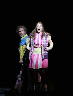 ENO The Magic Flute 2019, Thomas Oliemans and Rowan Pierce, © Donald Cooper