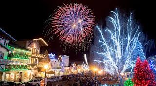 Show de luzes em Leavenworth