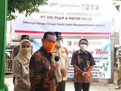 Terima Bantuan Oksigen Cair dari Sinar Mas, Pemprov Akan Segera Distribusikan