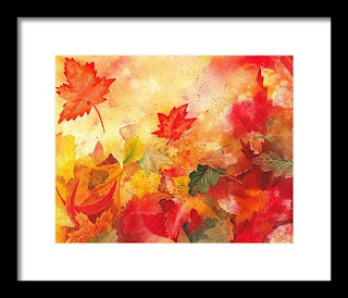 Abstract bestselling painting of Fall Leaves by the artist Irina Sztukowski