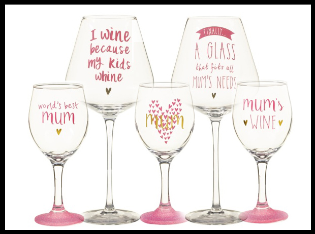 B&M have a great selection of wine glasses, ideal for Mothers Day or any day!
