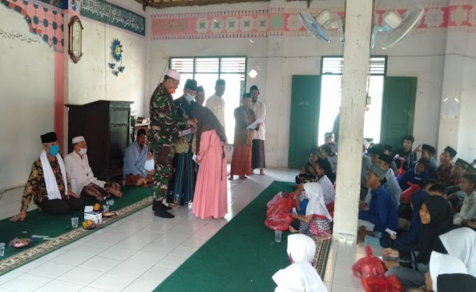 Wakili Danrem, Dandim 0602/Serang Hadiri Acara Santunan Anak Yatim di Ponpes Ashabul Maimanah