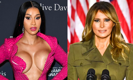 Cardi B Goes Angry And Shares Nude Photo Of US First Lady