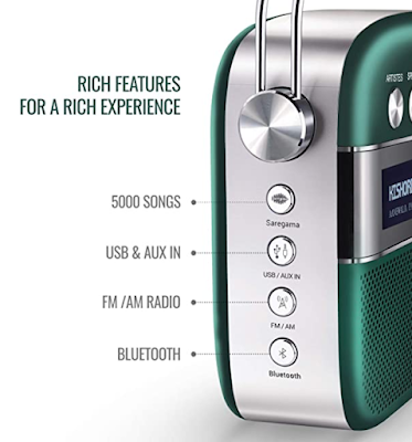 Saregama Carvaan 2.0 Portable Music Player with Preloaded 5000 Evergreen Hindi Songs