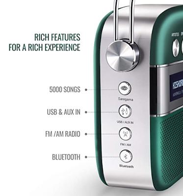 Saregama Carvaan 2.0 Portable Music Player with Preloaded 5000 Evergreen Hindi Songs