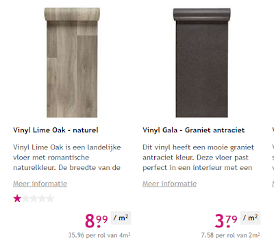 Leen Bakker Vinyl Lime Oak en Vinyl Gala