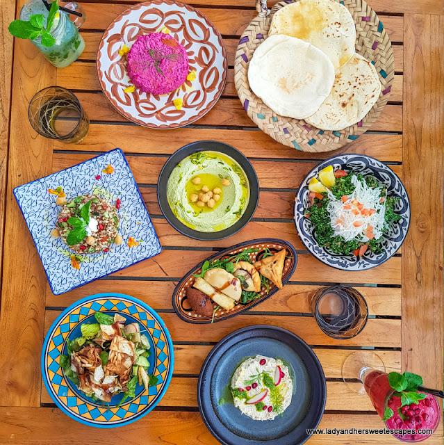 Arabic lunch in Al Maeda