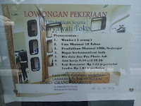 Lowonga Kerja Padang : Karyawati Toko