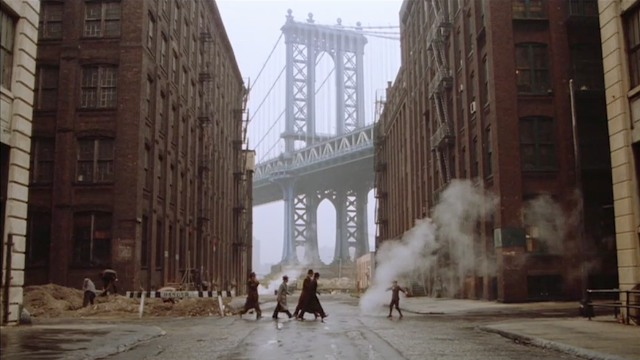 Once Upon a Time in America, Sergio Leone, Brookyln Bridge, Irish Gangsters, Noodles