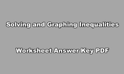 Solving and Graphing Inequalities Worksheet Answer Key PDF.
