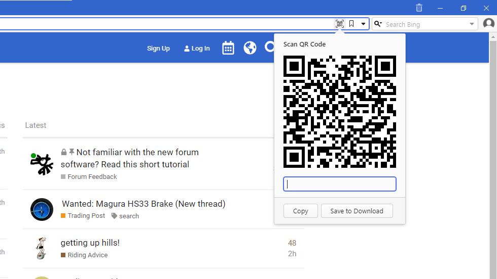 Condividere URL tramite codice QR su Vivaldi Browser