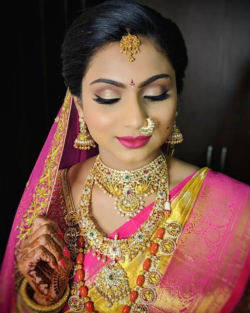 Bride in Coral Beads Bottu Mala