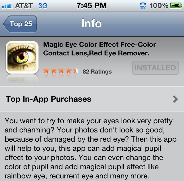 miss vyvy change your eye color with an iphone app. Black Bedroom Furniture Sets. Home Design Ideas
