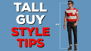 how to dress as a tall man: 10 colors and clothes to match