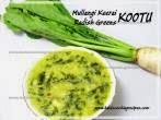 Radish Greens Coconut MilkEasy Kootu