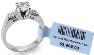 Jewelry Products Barcode Label Printing with Auto Tag Utility which can be attached Easily into Silver Rings, Gold Chains, Platinum Neckless like Products.