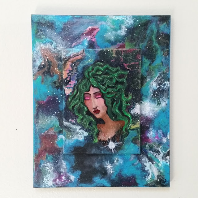 One with the universe Mother Earth painting by Eileenaart