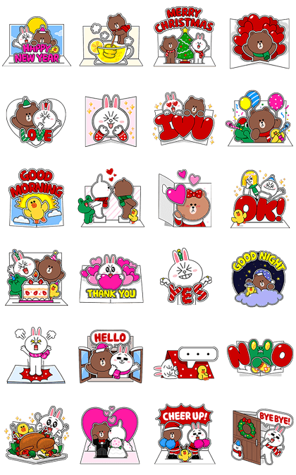 Line official stickers line greeting cards line greeting cards m4hsunfo