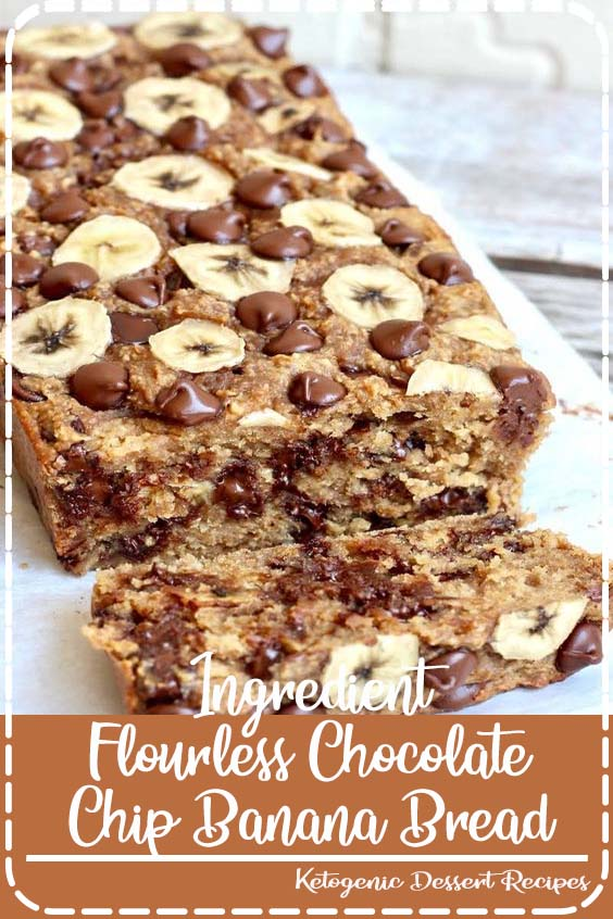 Easy to make and was a hit with my family 4-Ingredient Flourless Chocolate Chip Banana Bread
