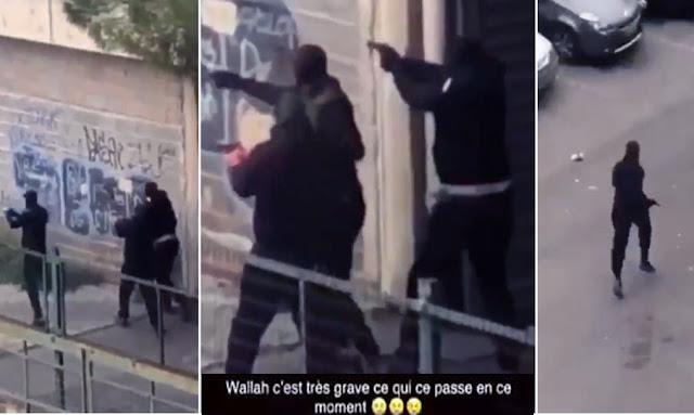 عاجل فرنسا: بالفيديو ... استعملت فيه الكلاشنيكوف والمسدسات ... تبادل لإطلاق النار في مونبيلييه الفرنسية