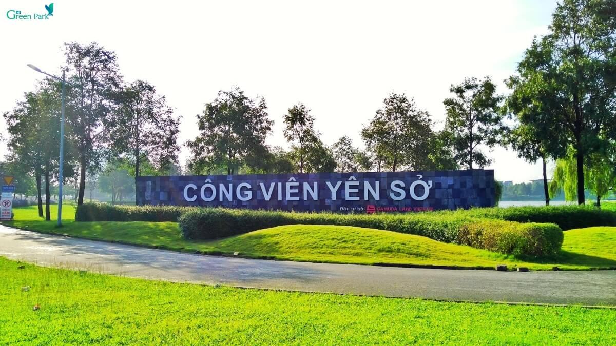 Phối cảnh công viên Yên Sở